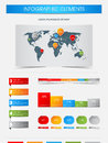Elements of infographics with world map Royalty Free Stock Photo
