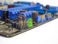 Elements of the motherboard which are used for full operation schemes Stock Photos