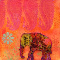 Elephant artwork Royalty Free Stock Images