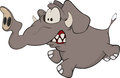 The elephant calf cartoon Royalty Free Stock Photo