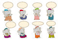 Elephant cartoon design cute clothes the lectures and tutorials Stock Photo