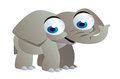 Elephant cartoon funny big smiling Royalty Free Stock Image