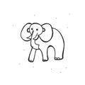 Elephant cartoon on white background