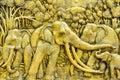 Elephant carves. Royalty Free Stock Image