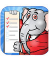 Elephant checklist Stock Images