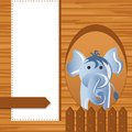 Elephant on childish background vector illustration of baby Royalty Free Stock Photos