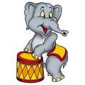 Elephant circus performer Royalty Free Stock Photo