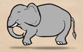 Elephant drawing Royalty Free Stock Photo