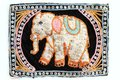 Elephant embroidered Royalty Free Stock Photos