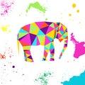 Elephant In Geometric Origami ...