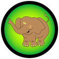 Elephant graphic. Royalty Free Stock Images