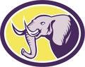 Elephant Head Side Oval