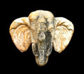 Elephant head statue Royalty Free Stock Photo