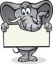 Elephant holding sign Stock Image