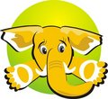 Elephant. Icon Royalty Free Stock Image