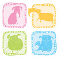 Elephant icon set Stock Photography