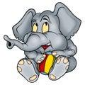 Elephant kittenish Royalty Free Stock Photo