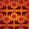 Elephant lotus pattern Royalty Free Stock Image
