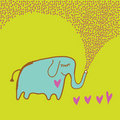 Elephant in love Stock Photo