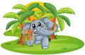 Elephant and mouse Royalty Free Stock Images