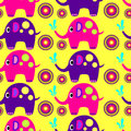 Elephant multi colored elephants with balls on a light background Royalty Free Stock Images