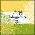 Elephant ornametal indian independence day with mandala invitation card in vector Stock Photos