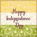 Elephant ornametal indian independence day with mandala invitation card in vector Royalty Free Stock Image
