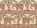 Elephant and palm tree seamless pattern color 3
