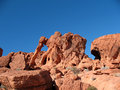 Elephant Rock in Valley of Fire Nevada Royalty Free Stock Photography