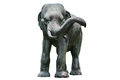 Elephant sculpture asian style statue from thailand isolated on white Royalty Free Stock Photo