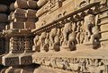 Elephant sculptures at vishvanatha temple western temples of khajuraho madhya pradesh india unesco world heritage site on the wall Stock Photography