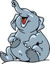 Elephant is smiling Royalty Free Stock Photo