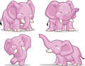 Elephant Standing, Dancing & Raising Its Trunk Royalty Free Stock Images