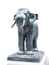 Elephant an stands guarding on concrete base Stock Photography