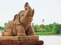 Elephant statue for decoration Stock Images