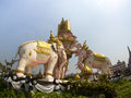 Elephant Statue in front of Wat Phra Kaew, Bangkok, Thailand Royalty Free Stock Photo