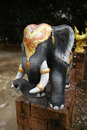 Elephant statue temple in thailand of asian Royalty Free Stock Photography