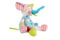 Elephant toy isolated on white Royalty Free Stock Photo