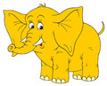 Elephant (vector clip-art) Stock Photography