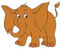 Elephant (vector clip-art) Royalty Free Stock Photos