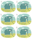 Elephant visual game children illustration eps mode task find two identical images match pair answer no Stock Photography