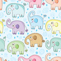 Elephant Water Seamless Pattern Royalty Free Stock Image