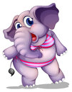 An elephant wearing a bikini illustration of on white background Royalty Free Stock Images