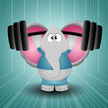 Elephant weightlifting Stock Photos