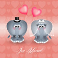 Elephants in love illustration of Royalty Free Stock Photos