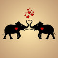 Elephants in love vector background with Royalty Free Stock Images