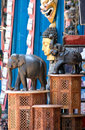 Elephants statuettes Royalty Free Stock Images
