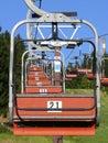 Elevador de cadeira do esqui Fotos de Stock Royalty Free