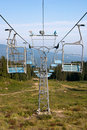 Elevador de esqui azul Fotografia de Stock
