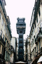 Elevador de Santa Justa in the centre of Lisbon, Portugal Royalty Free Stock Photo